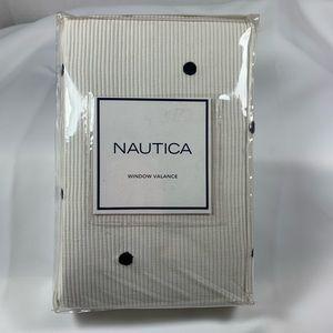 "NWT Nautica Window Valance Cantonniere 80""W x 15""H"